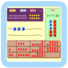 Preschool Math Game - Count the Beads